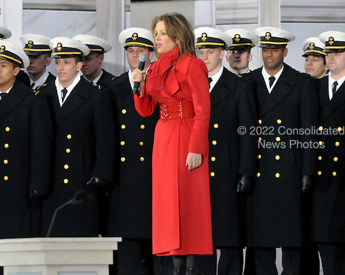 "Washington, DC - January 18, 2009 -- Renee Fleming performs at the ""Today: We are One - The Obama Inaugural Celebration at the Lincoln Memorial"" in Washington, D.C. on Sunday, January 18, 2009..Credit: Ron Sachs / CNP.(RESTRICTION: NO New York or New Jersey Newspapers or newspapers within a 75 mile radius of New York City)"