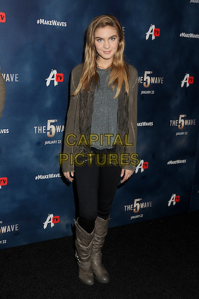 14 January 2016 - Los Angeles, California - Brighton Sharbino. &quot;The 5th Wave&quot; Los Angeles Premiere held at Pacific Theatres At The Grove.  <br /> CAP/ADM/BP<br /> &copy;BP/ADM/Capital Pictures