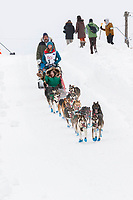 Shaynee Traska on Cordova St. hill during the Anchorage start day of  Iditarod 2018<br /> <br /> Photo by Trent Grasse /SchultzPhoto.com  (C) 2018  ALL RIGHTS RESERVED