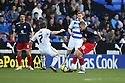 Michael Bostwick of Stevenage is tackled by Jay Tabb of Reading.Reading v Stevenage - FA Cup 3rd Round - Madejski Stadium,.Reading - 7th January, 2012.© Kevin Coleman 2012