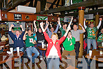 ..ROAR; Big roars from the crowd at Ders Deli who watched the Ireland and Wales play in the quarter final on Saturday morning at 6am as Ireland score a try in the Rugby World Cup Quarter final.