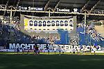 Die Fans des SV Waldhof Mannheim im Spiel SV Waldhof Mannheim - TSG 1899 Hoffenheim II.<br /> <br /> Foto &copy; P-I-X.org *** Foto ist honorarpflichtig! *** Auf Anfrage in hoeherer Qualitaet/Aufloesung. Belegexemplar erbeten. Veroeffentlichung ausschliesslich fuer journalistisch-publizistische Zwecke. For editorial use only.
