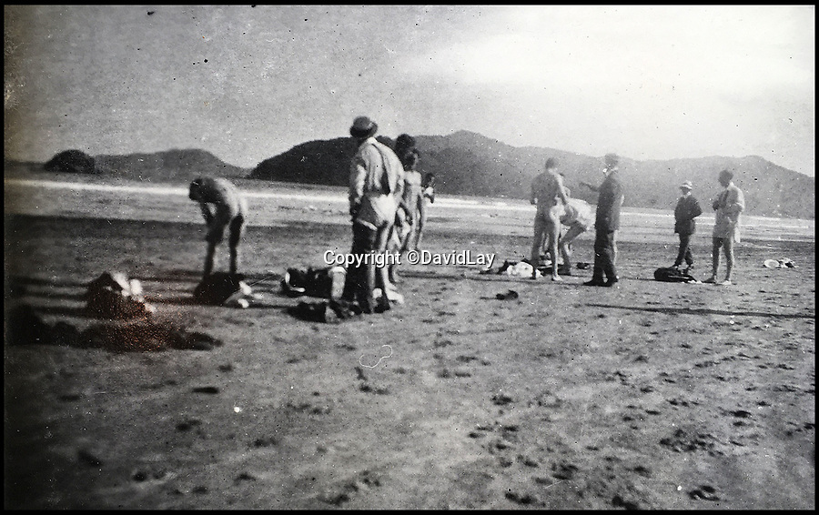 BNPS.co.uk(01202 558833)<br /> Pic: DavidLay/BNPS<br /> <br /> Skinny dipping on an Argentinian beach.<br /> <br /> A rare photo album which documents the historic first British Lions' tour to Argentina in 1910 has been unearthed, and it shows rugby players were no strangers to a bit of mischief back then.<br /> <br /> The fascinating photos capture what went on both on and off the pitch as a squad of 16 English and three Scottish players embarked on a six match tour of the country culminating in a historic test match with Argentina.<br /> <br /> It was Argentina's first ever test match and the Lions emerged 28-3 winners in a game played at a polo ground in Buenos Aires.<br /> <br /> The photos capture the vibrant social side of the tour as the rugby players were not afraid to let their hair down.