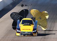 Feb 27, 2016; Chandler, AZ, USA; NHRA funny car driver Del Worsham during qualifying for the Carquest Nationals at Wild Horse Pass Motorsports Park. Mandatory Credit: Mark J. Rebilas-