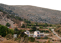 Pictured: The hotel in the Kerame area where the couple were staying in Ikaria, Greece. Wednesday 07 August 2019<br /> Re: Rescuers searching for  British scientist Natalie Christopher, 35, who disappeared on the  island of Ikaria, Greece have found her body at the bottom of a ravine.<br /> She was found less than a mile from the hotel in the Kerame area where she was on holiday with her Cypriot partner.<br /> Emergency service staff said that a large rock had dislodged as she fell, causing multiple head injuries.<br /> The woman's body will be kept overnight at the spot so a coroner can examine it on Thursday morning.