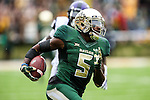 Baylor Bears wide receiver Antwan Goodley (5) in action during the game between the TCU Horned Frogs and the Baylor Bears at the McLane Stadium in Waco, Texas. TCU leads Baylor 31 to 27 at halftime.