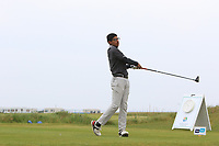 Habebul Islam (ENG) on the 1st tee during Round 1of the Flogas Irish Amateur Open Championship 2019 at the Co.Sligo Golf Club, Rosses Point, Sligo, Ireland. 16/05/19<br /> <br /> Picture: Thos Caffrey / Golffile<br /> <br /> All photos usage must carry mandatory copyright credit (© Golffile | Thos Caffrey)