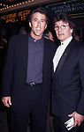 """Christopher Lawford and Jean LeClerc attend a performance of """"On The Waterfront"""" on May 1, 1995 at the Brooks Atkinson Theatre in New York City."""