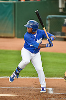 Willie Calhoun (17) of the Ogden Raptors at bat against the Great Falls Voyagers in Pioneer League action at Lindquist Field on July 16, 2015 in Ogden, Utah. Ogden defeated Great Falls 5-2. (Stephen Smith/Four Seam Images)