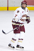 Peter Harrold - The Boston College Eagles and Ferris State Bulldogs tied at 3 in the opening game of the Denver Cup on Friday, December 30, 2005, at Magness Arena in Denver, Colorado.  Boston College won the shootout to determine which team would advance to the Final.