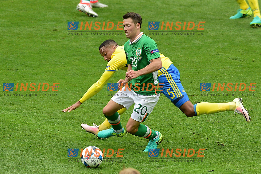 Martin OLSSON (swe) vs Wes HOOLAHAN (irl)  <br /> Paris 13-06-2016 Stade de France Football Euro2016 Ireland - Sweden / Irlanda - Svezia Group Stage Group E. Foto JB Autissier Panoramic / Insidefoto