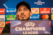 31st October 2017, San Paolo Stadium, Naples, Italy; UEFA Champions League; Pre Match Press Conference; SSC Napoli versus Manchester City; Midfielder David Silva of Manchester City looks on during the pre match press conference