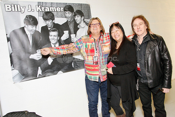 OAKS, PA - NOVEMBER 28 :  Special Guests Billy J Kramer, May Pang and Denny Laine of Wings and Moody Blues  pictured at The All Things That Rock Fest at the Greater Philadelphia Expo Center in Oaks, Pa on November 28, 2014  photo credit  Star Shooter / NediaPunch