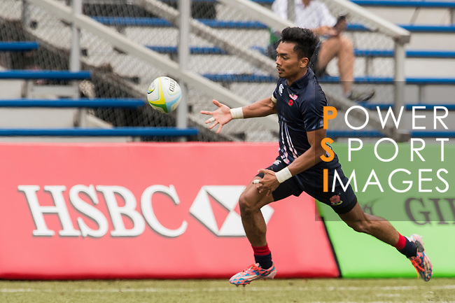 Muhammad Azizul Hakim Bin Che Oon of Malaysia in action during the match between Malaysia and Thailand of the the Asia Rugby U20 Sevens Series 2016 on 12 August 2016 at the King's Park, in Hong Kong, China. Photo by Marcio Machado / Power Sport Images