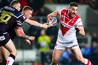 Picture by Alex Whitehead/SWpix.com - 16/03/2018 - Rugby League - Betfred Super League - St Helens v Leeds Rhinos - Totally Wicked Stadium, St Helens, England - St Helens' Luke Douglas in action.