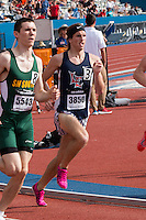 Despite being seventh after the first lap, Liberty Mountain View's Daylan Quinn runs to a runner-up finish in the boys 800-meters in 1:54.54 at the 2015 Kansas Relays. Quinn would return to the track less than an hour later where he placed 29th in the 1600-meters in 4:29.