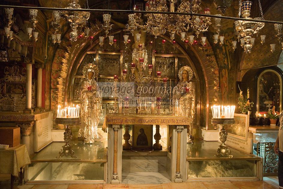 Asie/Israël/Judée/Jérusalem:Autel de l'église du Saint Sépulcre de Jérusalem