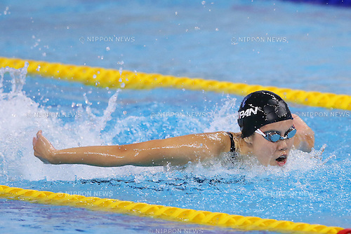 Natusmi Hoshi (JPN), <br /> SEPTEMBER 25, 2014 - Swimming : <br /> Women's 4x100m Medley Relay Final <br /> at Munhak Park Tae-hwan Aquatics Center <br /> during the 2014 Incheon Asian Games in Incheon, South Korea. <br /> (Photo by YUTAKA/AFLO SPORT)