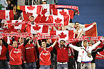 14 April 2007: Toronto supporters showed their pride during the pregame Canadian national anthem. The New England Revolution defeated Toronto FC 4-0 at Gillette Stadium in Foxboro, Massachusetts in an MLS Regular Season game.