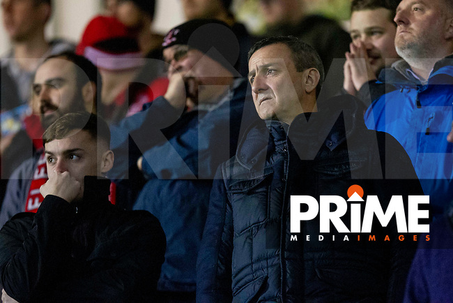 Fleetwood Town chairman Andy Pilley watches from the stands during the Sky Bet League 1 match between Plymouth Argyle and Fleetwood Town at Home Park, Plymouth, England on 25 November 2018. Photo by Mark Hawkins / PRiME Media Images.