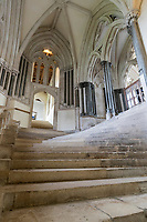 United Kingdom, England, Somerset, Wells: The famous steps leading to the Chapter House of Wells Cathedral | Grossbritannien, England, Somerset, Wells: die beruehmten Stufen zum Chapter House der Wells Kathedrale