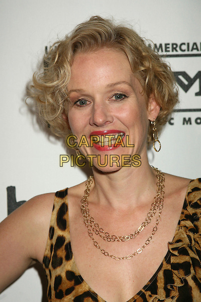 "PENELOPE ANN MILLER.""Brando"" Los Angeles Premiere at the Egyptian Theatre, Hollywood, California, USA.April 17th, 2007.headshot portrait gold necklace earrings chain leopard print .CAP/ADM/BP.©Byron Purvis/AdMedia/Capital Pictures"