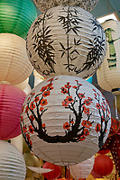 Colorful Chinese paper lanterns for sale in Chinatown, Vancouver, British Columbia, Canada