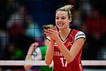 04.02.2018, Halle Berg Fidel, Muenster<br />Volleyball, Bundesliga Frauen, Normalrunde, USC MŸnster / Muenster vs. MTV Allianz Stuttgart<br /><br />Jubel Paige Tapp (#17 Stuttgart)<br /><br />  Foto &copy; nordphoto / Kurth