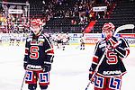 S&ouml;dert&auml;lje 2015-01-06 Ishockey Hockeyallsvenskan S&ouml;dert&auml;lje SK - Malm&ouml; Redhawks :  <br />  S&ouml;dert&auml;ljes Linus Fr&ouml;berg och S&ouml;dert&auml;ljes Fredric Andersson deppar efter matchen<br /> (Foto: Kenta J&ouml;nsson) Nyckelord:  depp besviken besvikelse sorg ledsen deppig nedst&auml;md uppgiven sad disappointment disappointed dejected