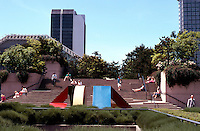 "Vancouver: Law Courts--Robson Square. Sculpture ""Primary No. 9"" by Mike Banwell, 1981.  Photo '86."