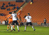 04/12/2018 FA Youth Cup 3rd Round Blackpool v Derby County<br /> <br /> Ewan Bange header fails to find the target