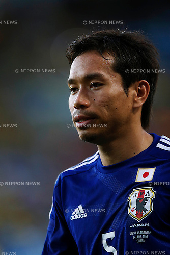 Yuto Nagatomo (JPN), JUNE 24, 2014 - Football / Soccer : FIFA World Cup Brazil 2014 Group C match between Japan 1-4 Colombia at Arena Pantanal in Cuiaba, Brazil. (Photo by D.Nakashima/AFLO)