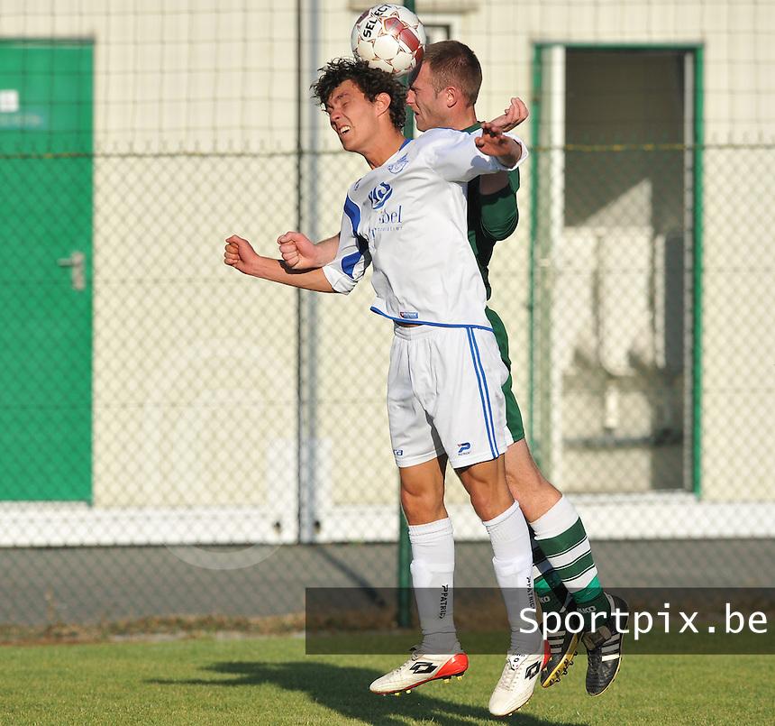 FC Eendracht Kuurne : Aaron Vlieghe.foto VDB / BART VANDENBROUCKE