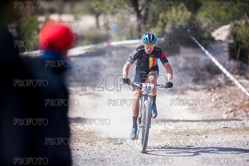 Chelva, SPAIN - MARCH 6: Ivan Diaz during Spanish Open BTT XCO on March 6, 2016 in Chelva, Spain