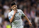Marco Asensio Willemsen of Real Madrid celebrates during the 2016-17 UEFA Champions League match between Real Madrid and Legia Warszawa at the Santiago Bernabeu Stadium on 18 October 2016 in Madrid, Spain. Photo by Diego Gonzalez Souto / Power Sport Images