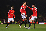 Chris Smalling of Manchester United celebrates his opening goal - Manchester United vs. Burnley - Barclay's Premier League - Old Trafford - Manchester - 11/02/2015 Pic Philip Oldham/Sportimage