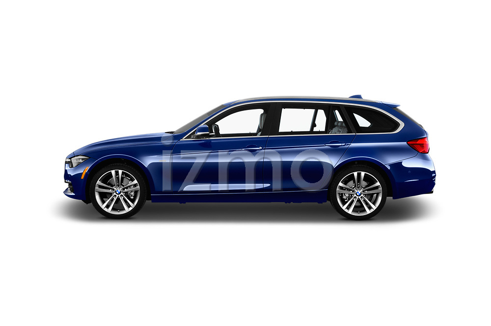 Car driver side profile view of a 2017 BMW 3 Series Touring 330i xDrive 5 Door Wagon