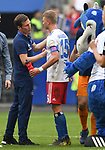 19.05.2019,  GER; 2. FBL, Hamburger SV vs MSV Duisburg ,DFL REGULATIONS PROHIBIT ANY USE OF PHOTOGRAPHS AS IMAGE SEQUENCES AND/OR QUASI-VIDEO, im Bild Trainer Hannes Wolf (Hamburg) mit Fiete Arp (Hamburg #15) nach dem Spiel Foto © nordphoto / Witke
