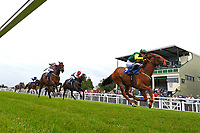 Winner of The Shadwell Stud Racing Excellence Apprentice Handicap Madrinho ridden by Poppy Bridgewater and trained by Tony Carroll during Afternoon Racing at Salisbury Racecourse on 12th June 2018