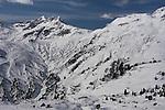 Flexenspitze seen from Zurs Ski Areas, St Anton, Austria