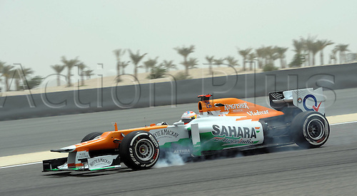 20.04.2012. Manama Bahrain.    Manama April 20 2012 Xinhua Paul Tue Resta of Force India Mercedes Competes during The First Practice Session of The Bahrain Formula One Grand Prix AT The Bahrain International Circuit in Manama Bahrain