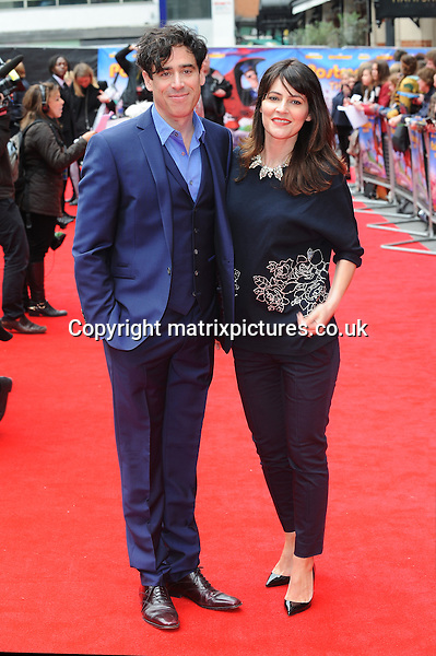 NON EXCLUSIVE PICTURE: PAUL TREADWAY / MATRIXPICTURES.CO.UK<br /> PLEASE CREDIT ALL USES<br /> <br /> WORLD RIGHTS<br /> <br /> English actor Stephen Mangan and English actress Louise Delamere attend the World Premiere of Postman Pat: The Movie, Odeon West End, London.<br /> <br /> MAY 11th 2014<br /> <br /> REF: PTY 142244
