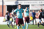 30th September 2017, Dens Park, Dundee, Scotland; Scottish Premier League football, Dundee versus Hearts; Hearts' Jamie Walker dejection after Dundee's winner