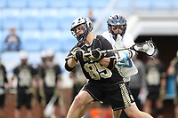CHAPEL HILL, NC - MARCH 10: Trevor Weingarten #85 of Bryant University takes a shot during a game between Bryant and North Carolina at Dorrance Field on March 10, 2020 in Chapel Hill, North Carolina.
