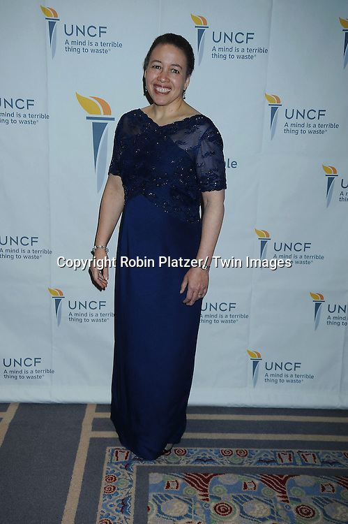 "Dr Beverly Tatum  of Spelman University attending The UNCF Gala celebrating The 40th Anniversary of  "" A Mind is a Terrible Thing to Waste"" ad campaign on March 3, 2011 at The Marriott Marquis Hotel in New York City. Vernon Jordan, Young & Rubicam and The Ad Council were honored."