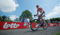 Pim Ligthart (NLD/Lotto-Belisol) up le &quot;Petit Poggio&quot;<br /> <br /> <br /> 2014 Belgium Tour<br /> stage 4: Lacs de l'Eau d'Heure - Lacs de l'Eau d'Heure (178km)