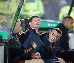 25.09.2018 Livingston v Rangers: Steven Gerrard looks to the heavens