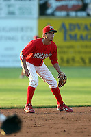 June 18th 2008:  Jose Garcia of the Batavia Muckdogs, Class-A affiliate of the St. Louis Cardinals, during a game at Dwyer Stadium in Batavia, NY.  Photo by:  Mike Janes/Four Seam Images