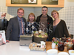 Keith Barry and Rachel Allen with Centre manager Peter Dolan and franchisee Carol Devine at the official opening of Abrakebabra and O'Brien's Sandwich Bar in Scotch Hall. Photo:Colin Bell/pressphotos.ie