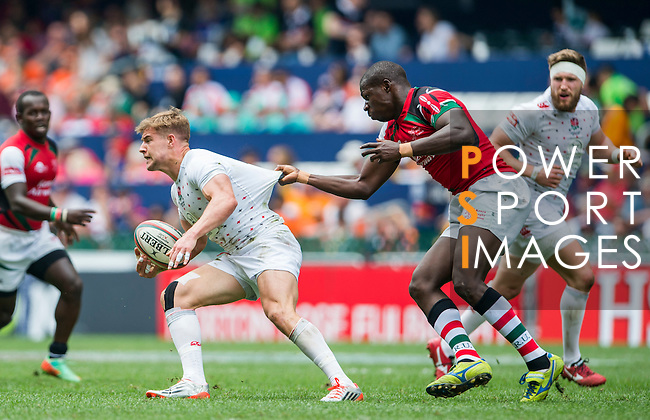 England vs Kenya during the HSBC Sevens Wold Series match as part of the Cathay Pacific / HSBC Hong Kong Sevens at the Hong Kong Stadium on 28 March 2015 in Hong Kong, China. Photo by Xaume Olleros / Power Sport Images